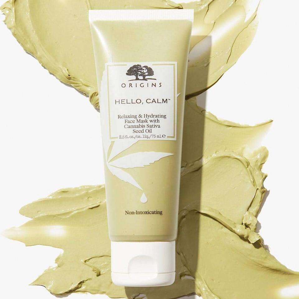 <p>The <span>Origins Hello Calm Relaxing &amp; Hydrating Face Mask with Hemp Seed Oil</span> ($28) will soothe and hydrate your dry skin.</p>