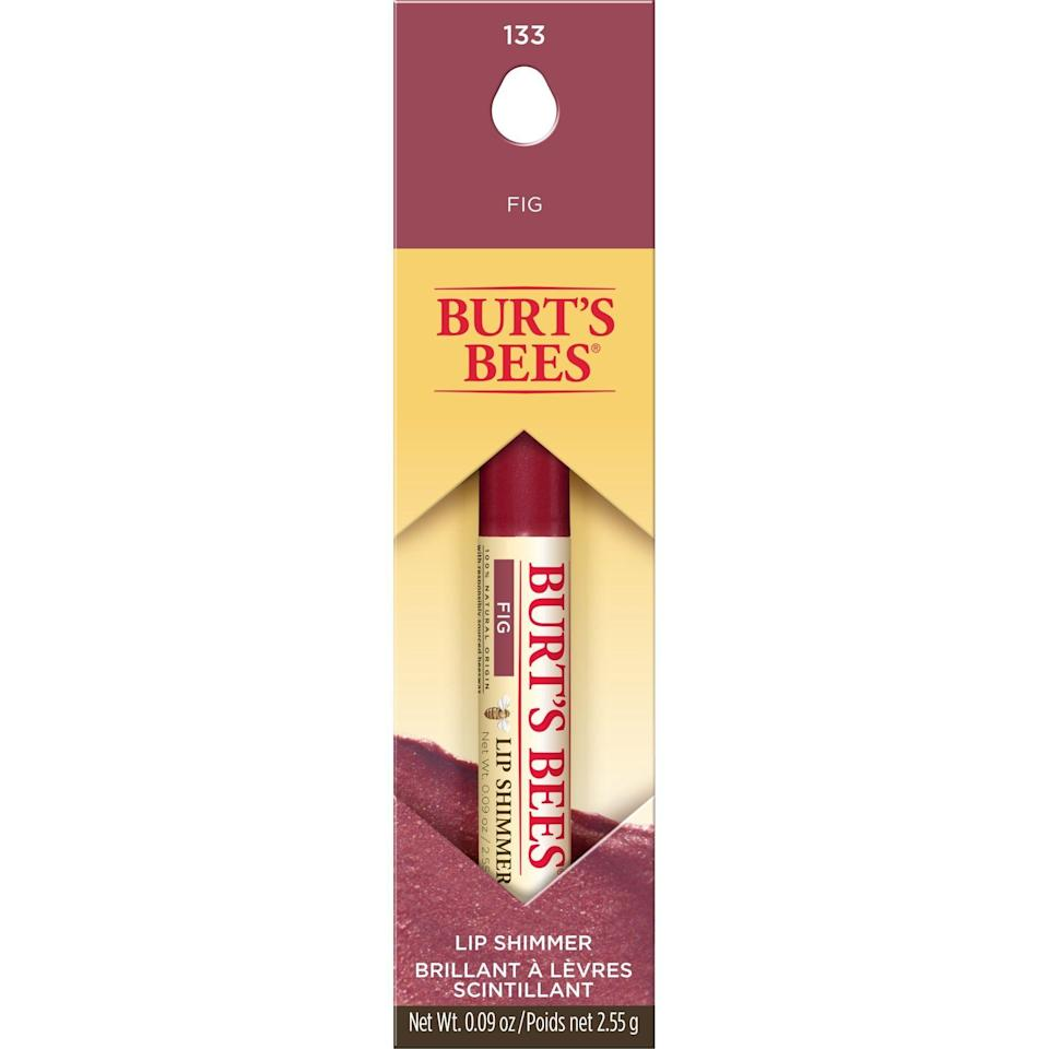 """<p><strong>Burt's Bees</strong></p><p>amazon.com</p><p><strong>$10.98</strong></p><p><a href=""""https://www.amazon.com/dp/B0082YLBWM?tag=syn-yahoo-20&ascsubtag=%5Bartid%7C10056.g.37760440%5Bsrc%7Cyahoo-us"""" rel=""""nofollow noopener"""" target=""""_blank"""" data-ylk=""""slk:Shop Now"""" class=""""link rapid-noclick-resp"""">Shop Now</a></p><p>Burt's Bees Lip Shimmers are seriously underrated, and this product proves it. This color is an ultra-hydrating, lightly shimmery alternative to Clinique's classic.</p>"""