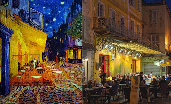 For over a year, Vincent van Gogh lived in the French city of Arles. It was there that he produced some of his most celebrated work. Unfortunately, it was also in Arles where the post-Impressionist artist suffered his most famous mental breakdown, one that culminated in the severing of his left ear. <em>Café Terrace at Night</em> was painted in the early fall of 1888, some four months before the ear-cutting incident in December. Today, visitors can still sit at the very café Van Gogh immortalized through his work.