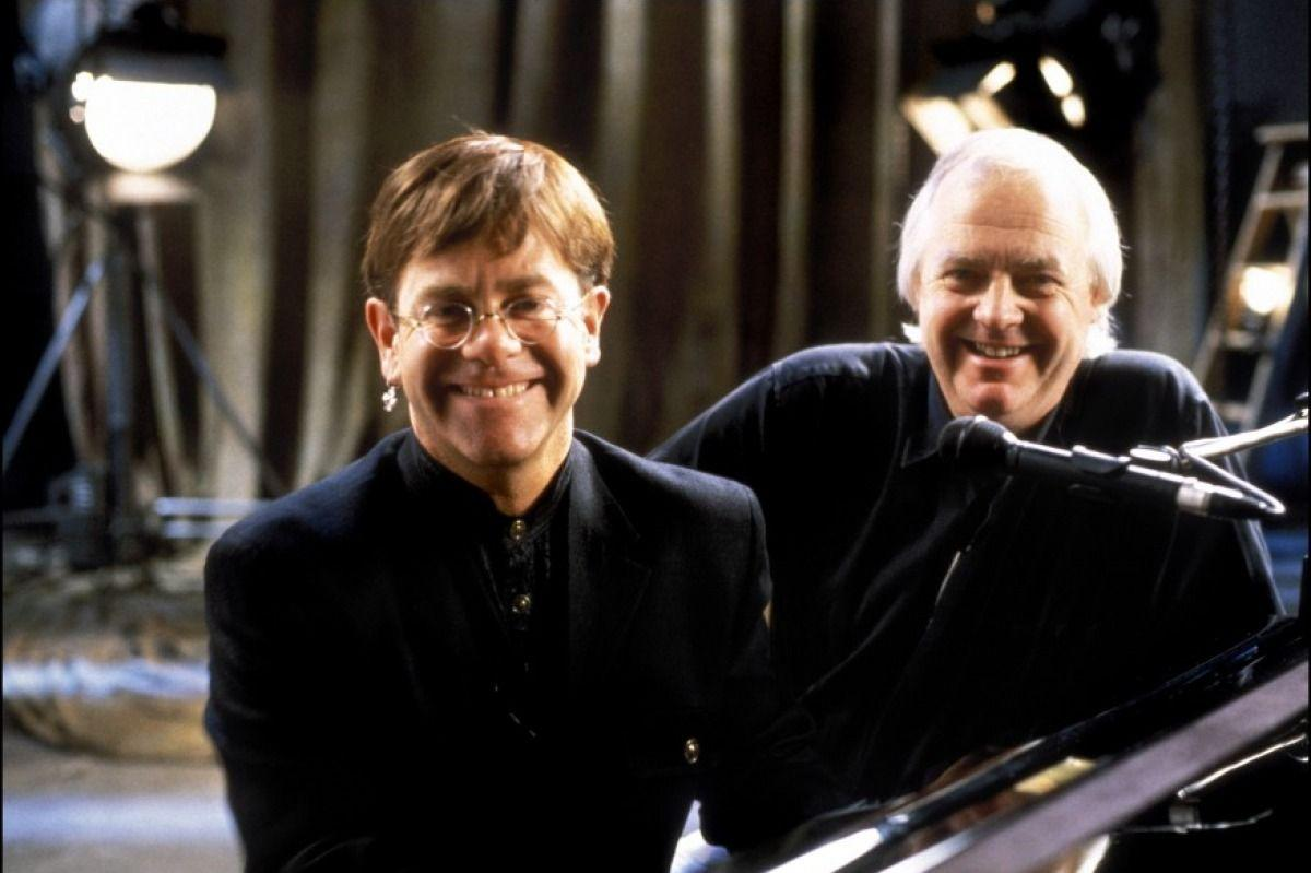 <p>Musicians Elton John and Tim Rice during production of the award-winning film score. </p>