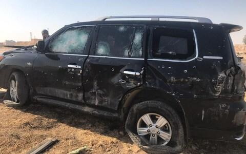 The car carrying Ms Khalaf was riddled with bullets