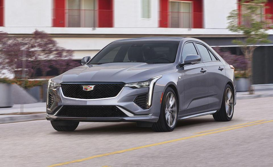 "<p>Now in its second year, the <a href=""https://www.caranddriver.com/cadillac/ct4"" rel=""nofollow noopener"" target=""_blank"" data-ylk=""slk:2021 Cadillac CT4"" class=""link rapid-noclick-resp"">2021 Cadillac CT4</a> is the entry-level Caddy and one of two sedans from the luxury automaker. The CT4 has sharp exterior styling and a <a href=""https://www.caranddriver.com/features/a35367420/2020-cadillac-ct4-v-lightning-lap/"" rel=""nofollow noopener"" target=""_blank"" data-ylk=""slk:finely tuned chassis"" class=""link rapid-noclick-resp"">finely tuned chassis</a> that answers the needs of any enthusiast, particularly when equipped with the optional turbocharged 2.7-liter inline four with 307 horsepower. The CT4's refinement doesn't extend to the interior, where the quality of materials is outmatched by many of its competitors.</p><ul><li>Engines: 237-hp 2.0-liter turbocharged inline-four; 307-hp turbocharged 2.7-liter inline-four </li><li>Cargo space: 11 cubic feet </li></ul><p><a class=""link rapid-noclick-resp"" href=""https://www.caranddriver.com/cadillac/ct4/specs"" rel=""nofollow noopener"" target=""_blank"" data-ylk=""slk:MORE CT4 SPECS"">MORE CT4 SPECS</a></p>"