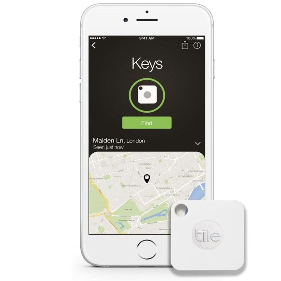 <p>Ideal for the guy who loses everything, this <span>Tile Mate Anything Finder</span> ($14, originally $20) easily attaches to his keys (or other devices) and can be tracked from a smartphone.</p>