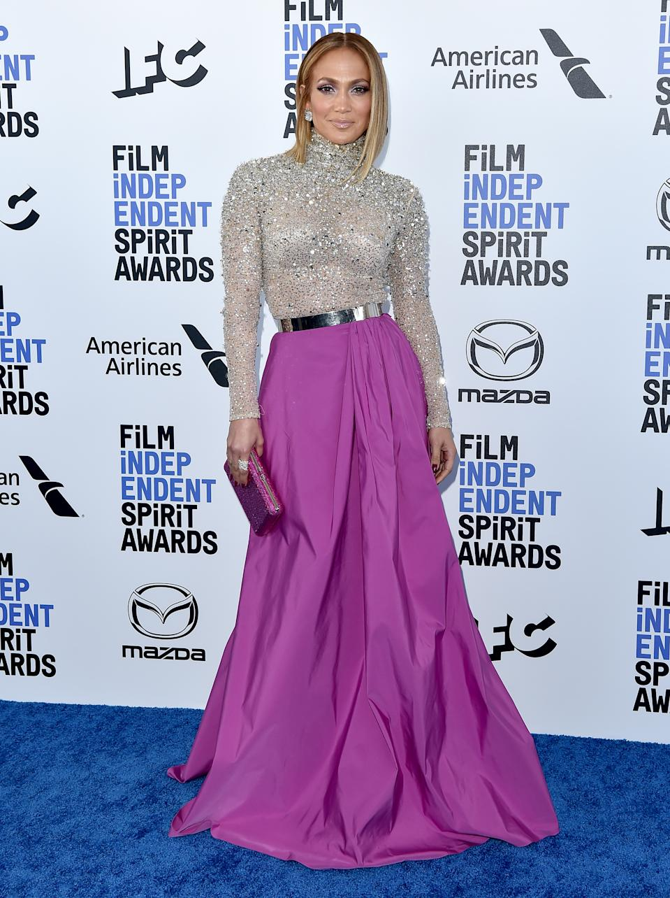 SANTA MONICA, CALIFORNIA - FEBRUARY 08: Jennifer Lopez attends the 2020 Film Independent Spirit Awards on February 08, 2020 in Santa Monica, California. (Photo by Axelle/Bauer-Griffin/FilmMagic)