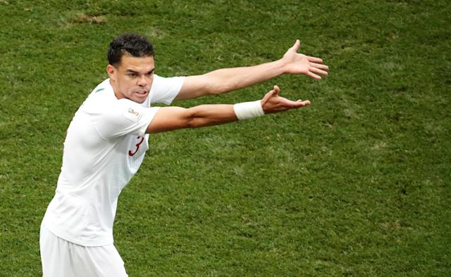 Soccer Football - World Cup - Group B - Portugal vs Morocco - Luzhniki Stadium, Moscow, Russia - June 20, 2018 Portugal's Pepe gestures during the match REUTERS/Christian Hartmann