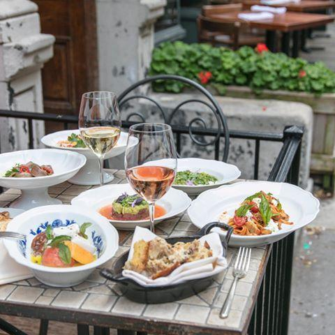 "<p>A dreamy location for a long leisurely lunch or a romantic dinner al fresco, this West Village outpost of <a href=""https://www.santambroeus.com/"" rel=""nofollow noopener"" target=""_blank"" data-ylk=""slk:the Milanese empire"" class=""link rapid-noclick-resp"">the Milanese empire</a> is situated on one of the prettiest corners of the city. Menu musts include the artichoke salad, the linguine with clams, and of course, a slice of the heavenly Principessa cake.</p><p><a href=""https://www.instagram.com/p/CBtN9Uth8Ho/?utm_source=ig_embed&utm_campaign=loading"" rel=""nofollow noopener"" target=""_blank"" data-ylk=""slk:See the original post on Instagram"" class=""link rapid-noclick-resp"">See the original post on Instagram</a></p>"