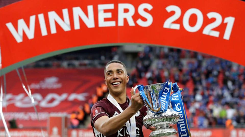 Youri Tielemans marcou na final da FA Cup. | Pool/Getty Images