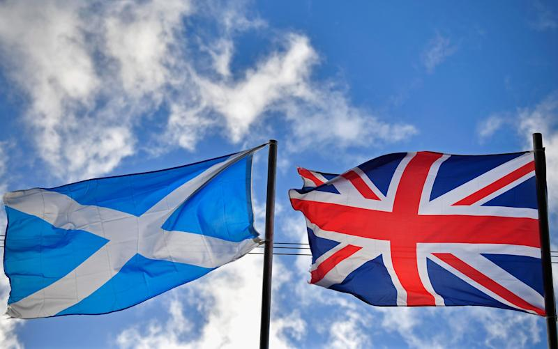A Scottish and Union flag side by side - 2017 Getty Images
