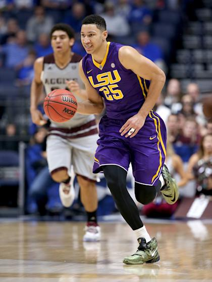Ben Simmons' season ended in the SEC tournament. (Getty Images)
