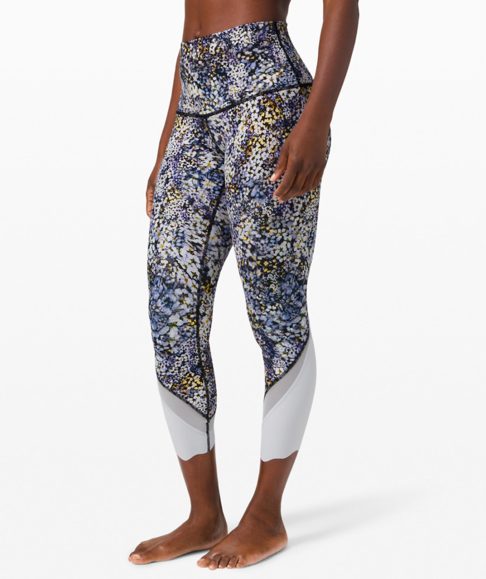 """<p><strong>Lululemon</strong></p><p>lululemon.com</p><p><a href=""""https://go.redirectingat.com?id=74968X1596630&url=https%3A%2F%2Fshop.lululemon.com%2Fp%2Fwomen-crops%2FWunder-Under-CropII-Scallop-Lux-MD%2F_%2Fprod10000013&sref=https%3A%2F%2Fwww.marieclaire.com%2Ffashion%2Fg33262976%2Flululemon-warehouse-sale-july-2020%2F"""" rel=""""nofollow noopener"""" target=""""_blank"""" data-ylk=""""slk:SHOP IT"""" class=""""link rapid-noclick-resp"""">SHOP IT </a></p><p><del>$88<strong><br></strong></del><strong>$49—$69</strong></p><p>If you want to give your basic black leggings a rest, feast your eyes on this fun pattern. With plenty of styles to choose from—and a sweet, scalloped hemline—these leggings will be getting plenty of compliments in your virtual workout class. </p>"""