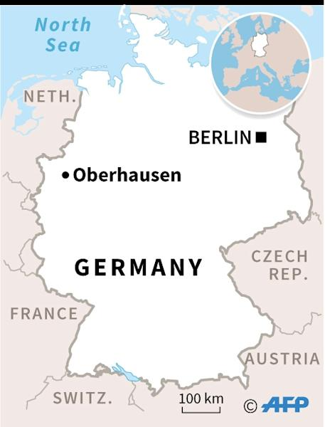 Map of Germany locating the city of Oberhausen, where two brothers were arrested on suspicion of planning an attack on a shopping centre (AFP Photo/AFP  )