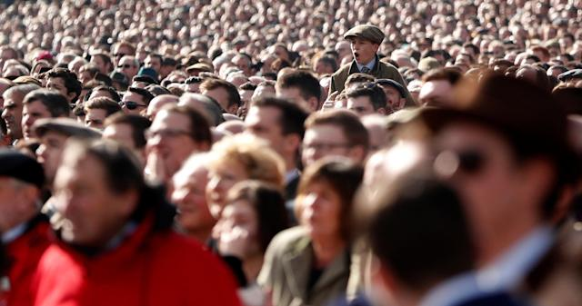 Horse Racing - Cheltenham Festival - Cheltenham Racecourse, Cheltenham, Britain - March 13, 2018 Racegoers look on during the 13:30 Sky Bet Supreme Novices' Hurdle Action Images via Reuters/Andrew Boyers