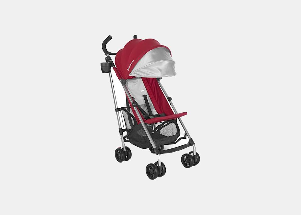 """Leave your bulky jogging stroller at home in favorite of this lightweight, <a href=""""https://www.cntraveler.com/stories/2016-03-28/the-5-best-travel-strollers?mbid=synd_yahoo_rss"""" rel=""""nofollow noopener"""" target=""""_blank"""" data-ylk=""""slk:portable model"""" class=""""link rapid-noclick-resp"""">portable model</a>. The Uppababy G-Lite will take up less space on the monorail and has a breathable mesh seat and extendable sunshade rated at UPF 50+ to block the harsh Florida sun from little ones. $180, Amazon. <a href=""""https://www.amazon.com/UPPAbaby-G-LITE-Stroller-Denny-Silver/dp/B077BFZY4K"""" rel=""""nofollow noopener"""" target=""""_blank"""" data-ylk=""""slk:Get it now!"""" class=""""link rapid-noclick-resp"""">Get it now!</a>"""