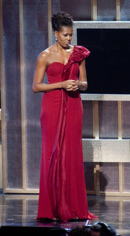 <p>Michelle Obama in J.Mendel at the BET Honors 2012. (Photo: Leigh Vogel/FilmMagic)</p>
