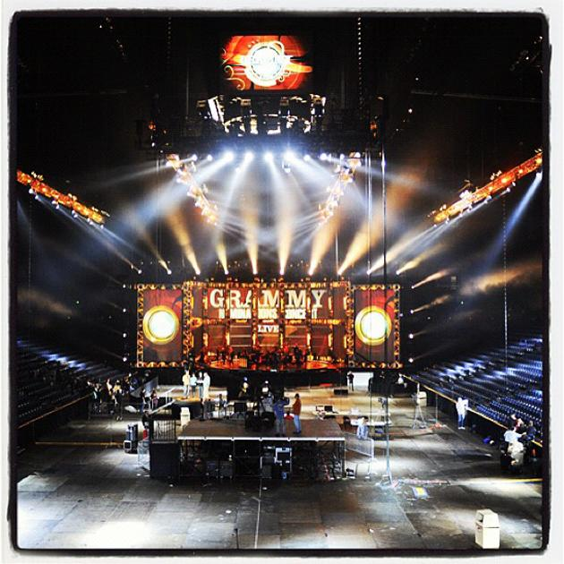 The stage is set for the #GRAMMYNoms Live tomorrow! Who do U want to be nominated? - cbsphoto, via Instagram
