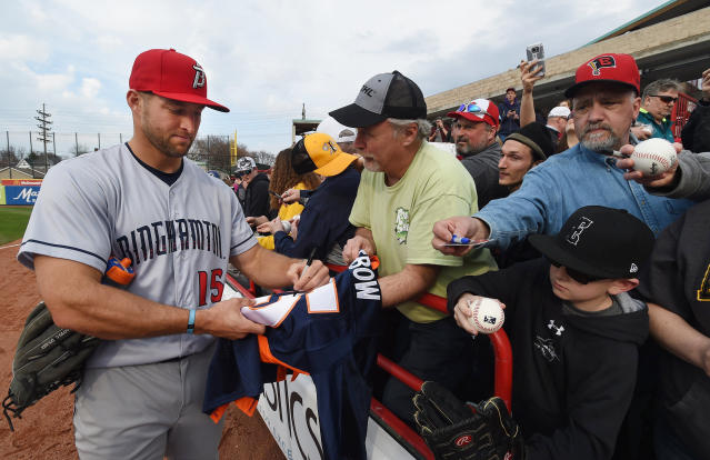 Tim Tebow is playing in the Double-A, Eastern League All-Star Game on Wednesday night. (AP)
