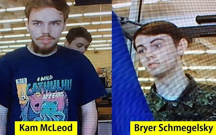 Kam McLeod, 19, and Bryer Schmegelsky, 18, from Port Alberni, British Columbia were the main suspects in the slayings of 23-year-old Australian Lucas Fowler, and his American girlfriend Chynna Deese, 24 - AFP