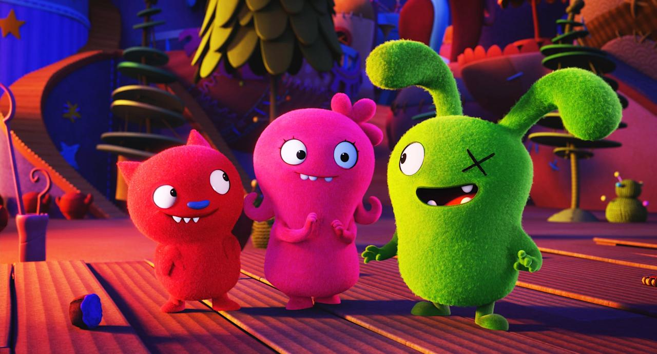 "<p><b>Hulu's Description:</b> ""An animated adventure in which the free-spirited UglyDolls confront what it means to be different, struggle with a desire to be loved, and ultimately discover who you truly are is what matters most.""</p> <p><a href=""https://www.hulu.com/watch/b5e5d373-1f2d-4cc5-9d2c-3b7a688794fe"" target=""_blank"" class=""ga-track"" data-ga-category=""Related"" data-ga-label=""https://www.hulu.com/watch/b5e5d373-1f2d-4cc5-9d2c-3b7a688794fe"" data-ga-action=""In-Line Links"">Stream <b>UglyDolls</b> on Hulu!</a></p>"
