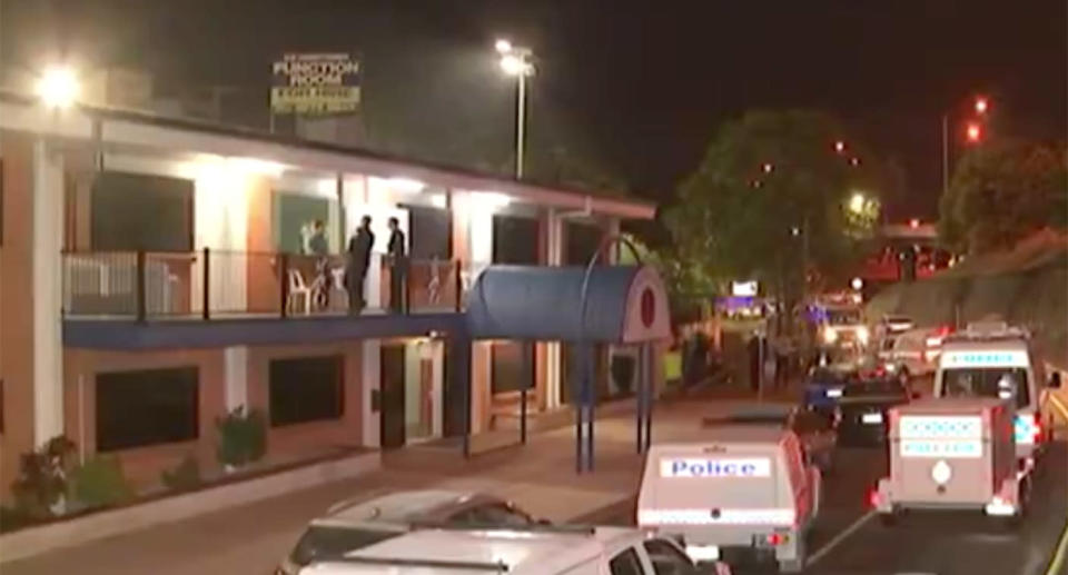 Adam Woodward was playing pool with friends at St Brendan's Brothers Leagues Club when an argument allegedly broke out in the bar around 9pm and spilled onto the street