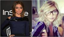 <p><b>When: Photo shared on Instagram April 6, 2017 </b><br>Modern Family starlet Sarah Hyland was spotted strutting out of Nine Zero One Salon in Hollywood on Sunday with tousled, shoulder-length layered blonde locks! This is a huge switch for the 26-year-old, whose previously opted for a darker, middle-part bob in the past. The new style makes the actress look sexy and sophisticated, and we predict it'll open up more roles for her. Are you loving the blonde? <i> (Photos: Getty/Instagram) </i> </p>