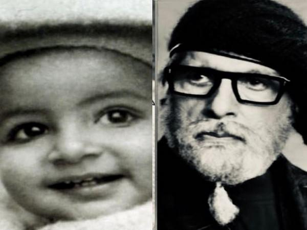 Megastar Amitabh Bachchan's childhood picture with the recent one  (Image Source: Instagram)