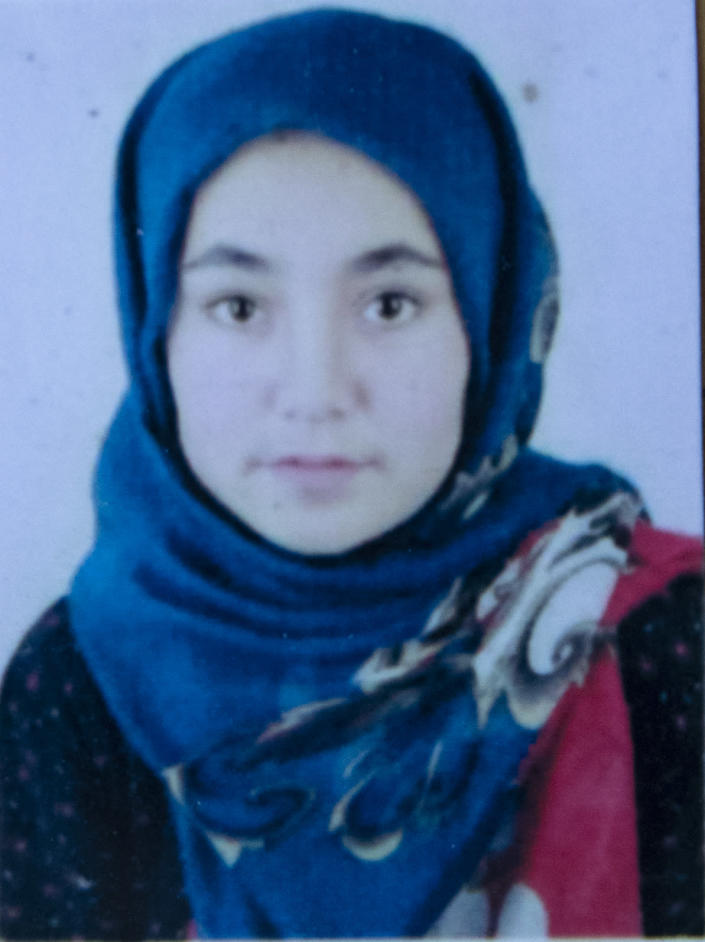 This undated photo released by the family shows FSafia Sajadi who was among nearly 100 people killed in bombing attacks outside her school on May 8, 2021. At 14, Safia Sajadi would make clothes for other people to earn money to pay for her English-language lessons, said her father Ali, who boasted his young daughter always had the highest marks. He wept as he spoke. (AP Photo)