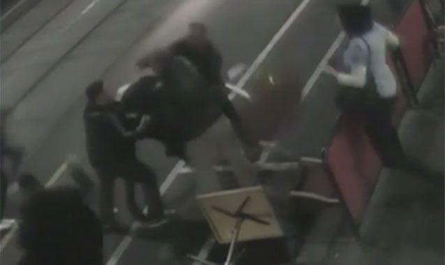 CCTV footage showed the locals tackling one of the crooks. Photo: 7 News