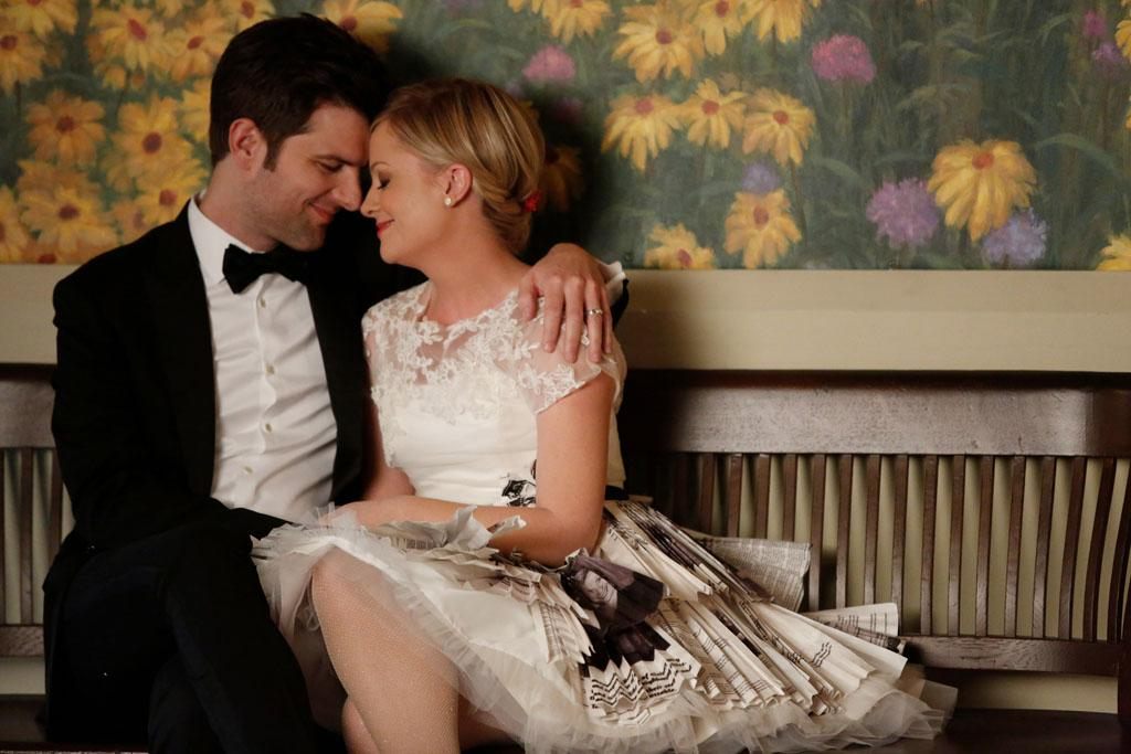 """Leslie and Ben"" Episode 514 -- Adam Scott as Ben Wyatt, Amy Poehler as Leslie Knope"