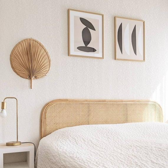 """<br><br><strong>SkyHighDesign</strong> Curved Rattan Headboard, $, available at <a href=""""https://www.etsy.com/uk/listing/809042242/curved-rattan-headboard-160"""" rel=""""nofollow noopener"""" target=""""_blank"""" data-ylk=""""slk:Etsy"""" class=""""link rapid-noclick-resp"""">Etsy</a>"""