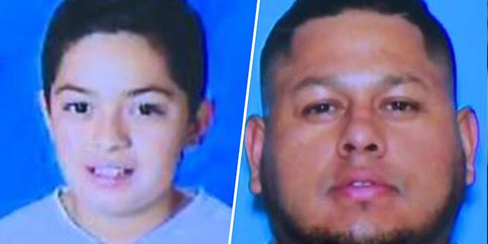 From left: Missing 11-year-old, Eden Montes and his biological father, Jose Montes-Herrera. (via LVMDP)