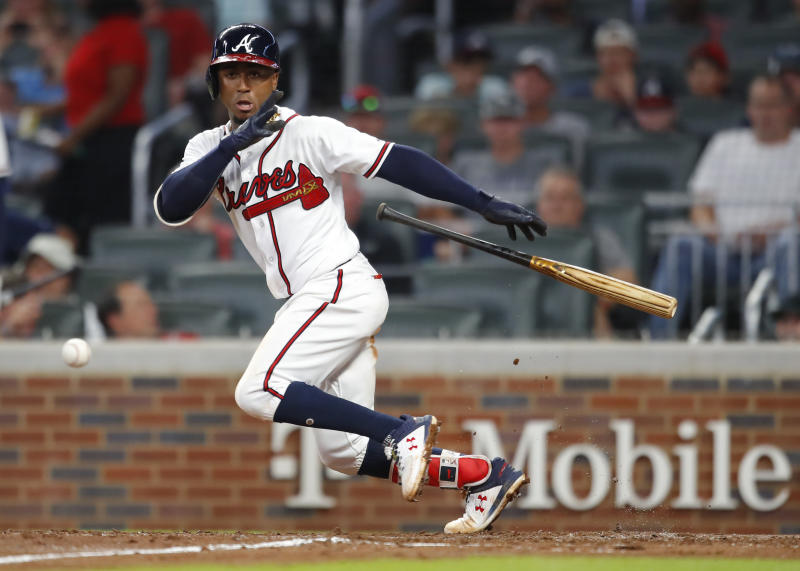 Ozzie Albies and the Braves fell out of the top 10 this week. (AP)