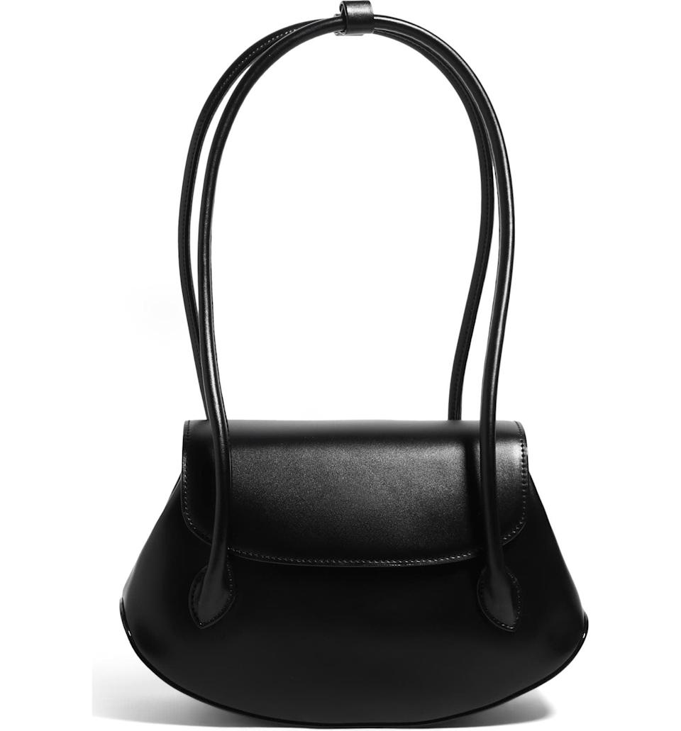 <p>This <span>House of Want We Are Timeless Small Vegan Leather Shoulder Bag</span> ($78) has a minimalist silhouette with understated elegance. We love the unique-looking, long rolled handles.</p>