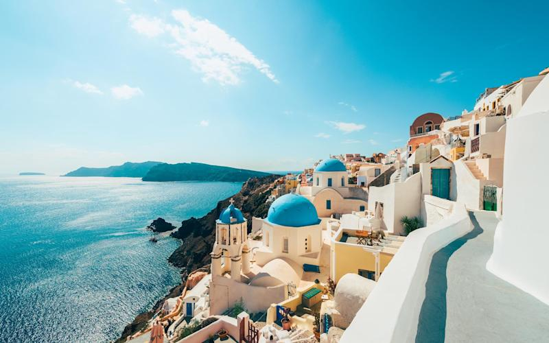 Santorini is off the cards for now