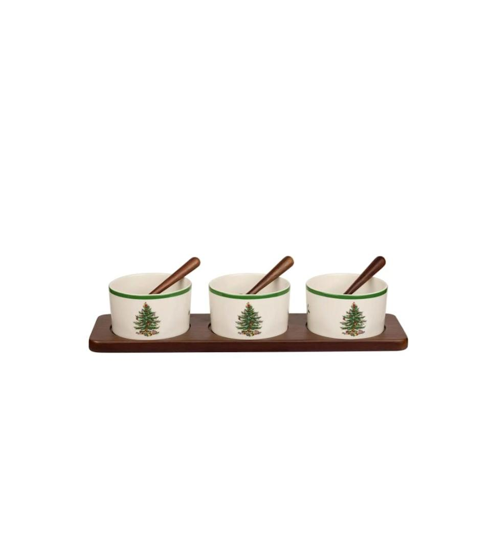 <p>Anyone who is hosting a holiday bash will get a lot of use out of these <span>Portmeirion x Ted Baker Spode 7-Piece Christmas Tree Serving Set</span> ($100). (Read: it's the perfect place to store those toppings for your gingerbread house.) </p>