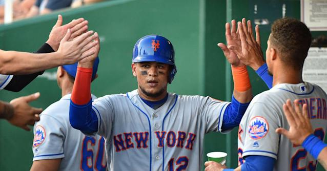 deGrom deLivers, Lagares and Alonso collect three hits apiece in win over Royals