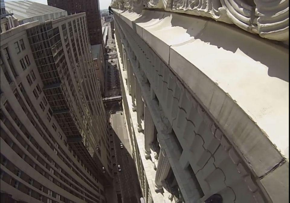This is the 100-metre drop seen from the top of 175 West Jackson street located in the Financial District of Chicago. Photo: Michael Kelly