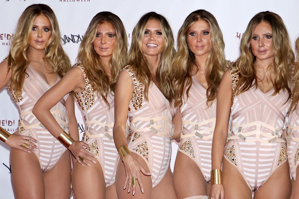 <strong>Heidi Klum as herself (six times)</strong><br><br>For her 2016 party, Klum showed up with five other women wearing prosthetic masks to make them look even <em>more </em>like Klum.