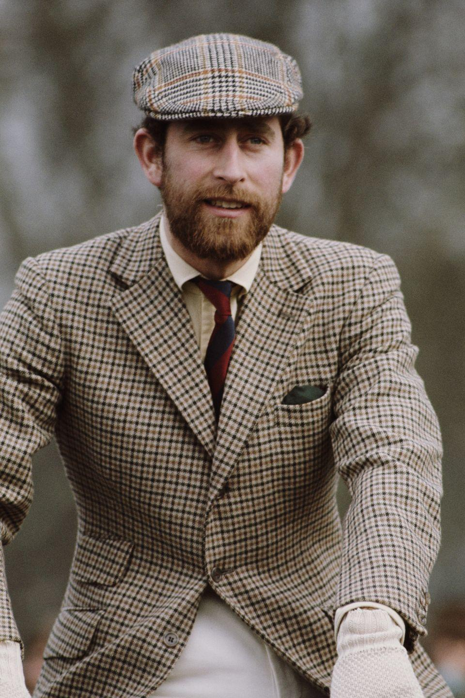 <p>Though this bearded snapshot of his dad in 1976 gives us a pretty good idea of what Harry <em>could</em> look like in head-to-toe plaid.</p>