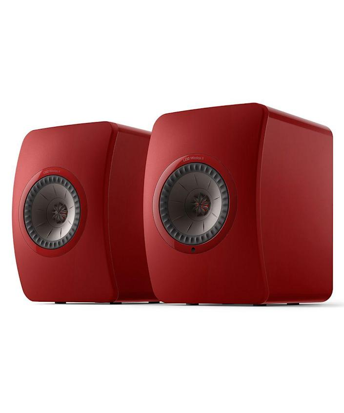 """<p>kef.com</p><p><strong>$2499.99</strong></p><p><a href=""""https://us.kef.com/ls50-wireless-2.html"""" rel=""""nofollow noopener"""" target=""""_blank"""" data-ylk=""""slk:Shop Now"""" class=""""link rapid-noclick-resp"""">Shop Now</a></p><p>KEF's wireless speakers recently added Spotify integration, resulting in a complete, high-resolution audio system solution that can be accessed through Bluetooth or WiFi.</p>"""