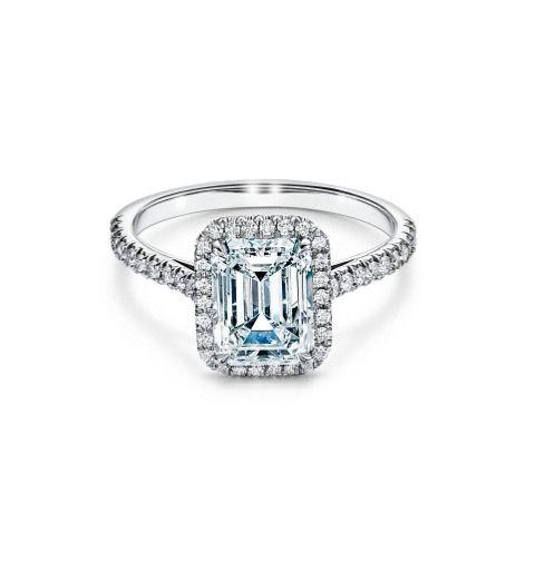 "<p>Still want a bit of extra sparkle? Tiffany has surrounded this emerald-cut diamond with a halo of brilliants for added lustre. </p><p>Soleste Emerald-cut Halo engagement ring in a platinum band, price on request, Tiffany & Co</p><p><a class=""body-btn-link"" href=""https://go.redirectingat.com?id=127X1599956&url=https%3A%2F%2Fwww.tiffany.co.uk%2Fengagement%2Fengagement-rings%2Ftiffany-soleste-emerald-cut-halo-engagement-ring-with-a-diamond-platinum-band-GRP10868%2F&sref=https%3A%2F%2Fwww.harpersbazaar.com%2Fuk%2Ffashion%2Fjewellery-watches%2Fg33306434%2Fbest-emerald-cut-engagement-rings%2F"" target=""_blank"">SHOP NOW</a></p>"