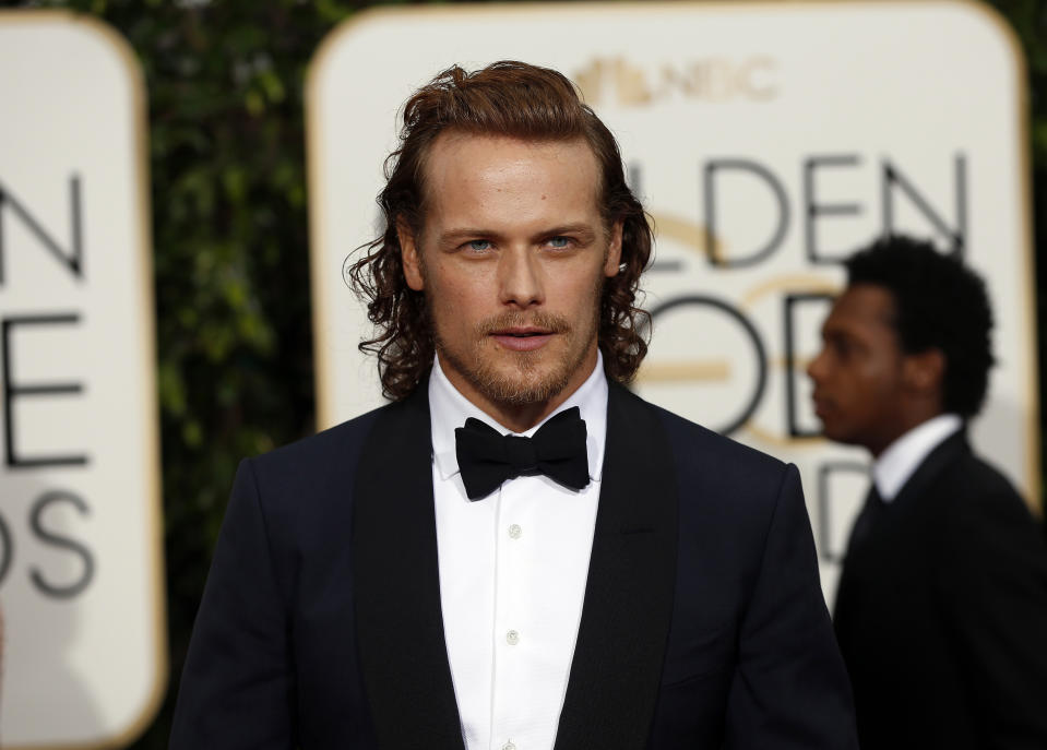 Actor Sam Heughan arrives at the 73rd Golden Globe Awards in Beverly Hills, California January 10, 2016.  REUTERS/Mario Anzuoni