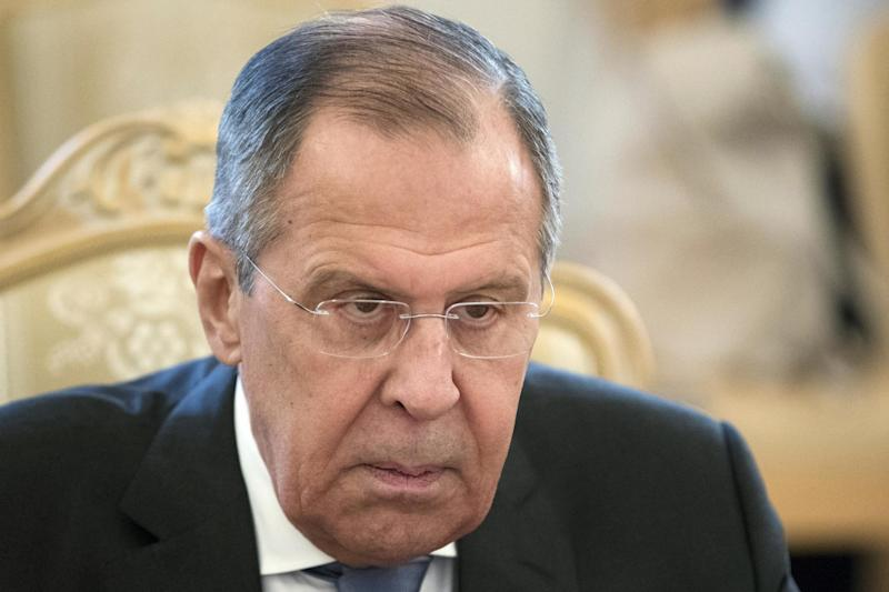 Dismissive: Russian Foreign Minister Sergey Lavrov: AP