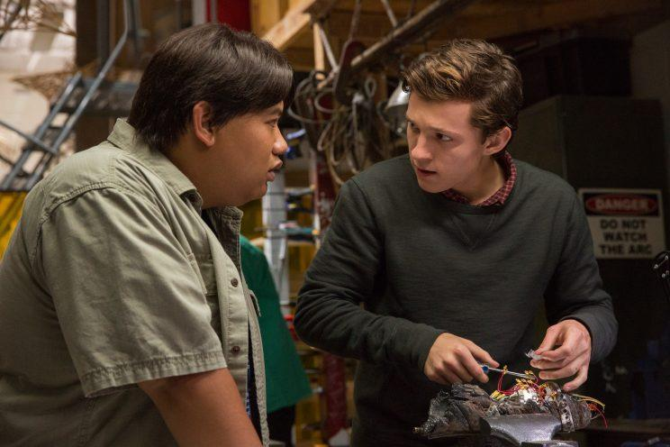 Ned (Jacob Batalon) and Peter (Tom Holland) in
