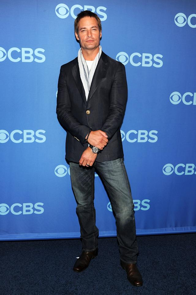 NEW YORK, NY - MAY 15:  Josh Holloway attends CBS 2013 Upfront Presentation at The Tent at Lincoln Center on May 15, 2013 in New York City.  (Photo by Ben Gabbe/Getty Images)