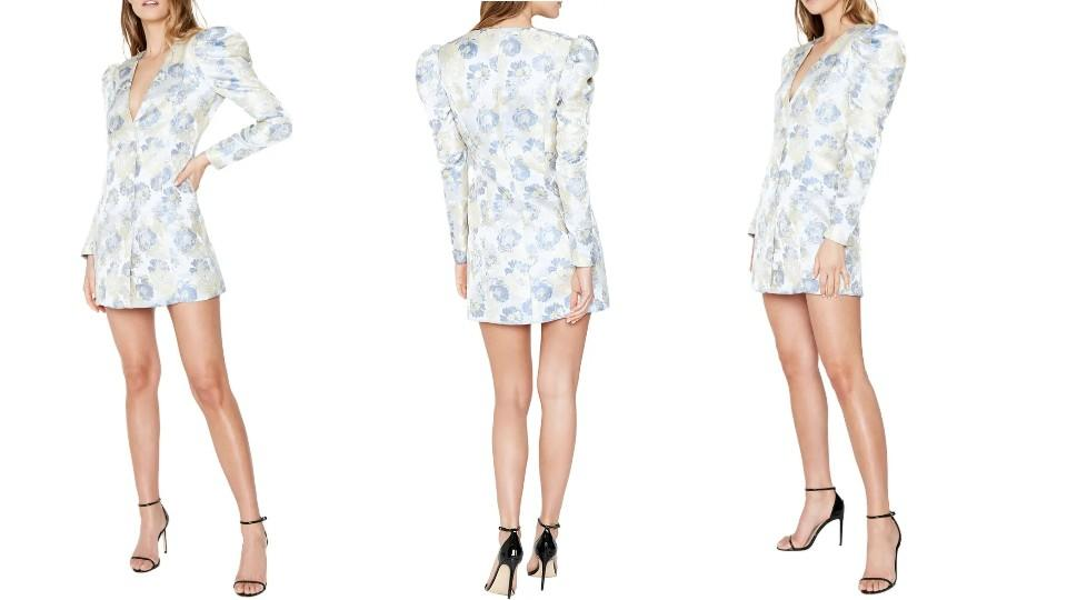 Bardot Floral Jacquard Long Sleeve Minidress - Nordstrom, $107 (originally $179)