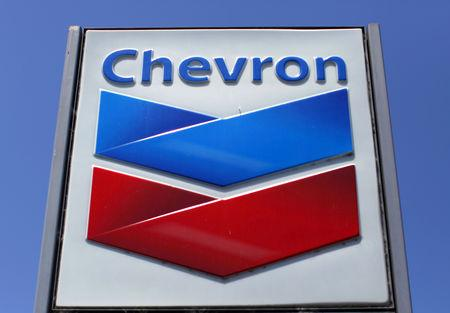 A Chevron gas station sign is seen in Del Mar
