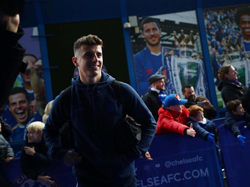 Chelsea's Mason Mount arrives at Stamford Bridge: REUTERS