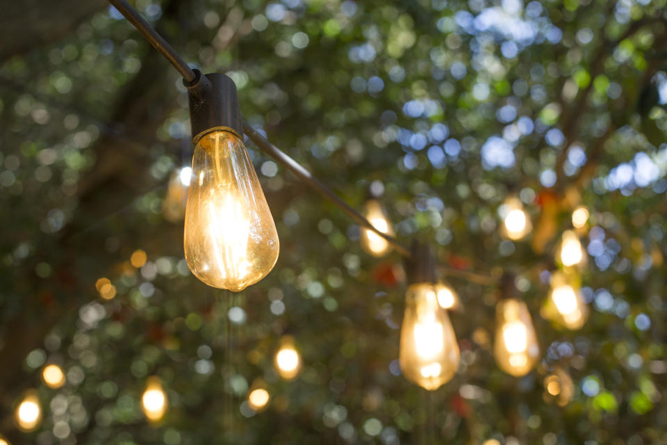 Opt for solar-powered lights in your garden space. (Getty Images)