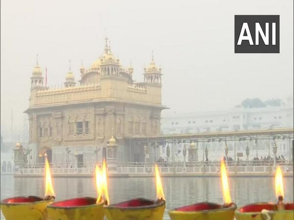 The Golden Temple in Amritsar, Punjab on Saturday morning. (Photo/ANI)