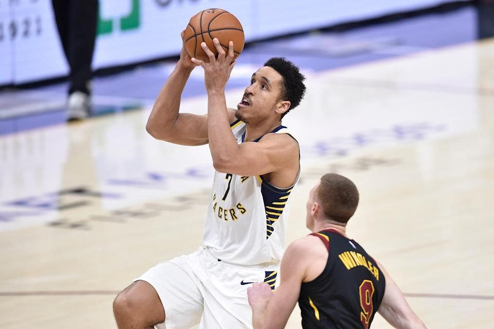 Indiana Pacers guard Malcolm Brogdon (7)
